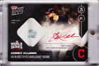 Corey Kluber World Series Game Used Base Autograph 2016 Topps NOW 627-C Auto 99