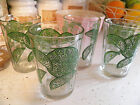 4 Vintage Crisa Fluted Green Lime Drinking Juice Shot Dessert Glasses