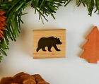 Grizzly Bear Silhouette Rubber Stamp Wildlife Animal Camping Hiking 25