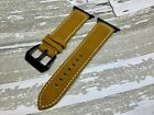 Vintage Suede Leather Strap Apple Series 1 2 3 4 iWatch 42mm Light Brown Tan