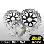 Front + Rear SS Brake Disc 3pcs For Honda CB600F Hornet S -17
