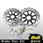Front + Rear SS Brake Disc 3pcs For Ducati Monster 1000 Dark / ie / S 03 04 05