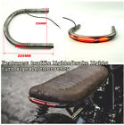 New Motorcycle Cafe Racer Seat Frame Hoop Loop End Brat Style w/LED Brake Light