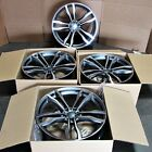 Fits BMW X5 X6 X5M X6M Machined Face Gunmetal 22 612 Style Staggered Wheels