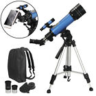 Portable 400x70mm Refractor Astronomical Telescope w BagSmartphone Holder