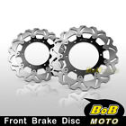 For Yamaha YZF 1000 R THUNDERACE 96-98 2x Stainless Steel Front Brake Disc Rotor