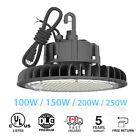 100w-250w Ufo Led High Bay Lights Warehouse Dimmable Ip65 Factory Shop Lightings