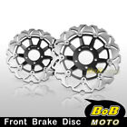 For Suzuki GSX 400 Impulse 1994- 2x Stainless Steel Front Brake Disc Rotor