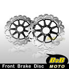 Moto Guzzi CALIFORNIA EV 1100 96-2000 2x Stainless Steel Front Brake D