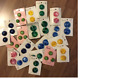 LOT OF 20 CARDS OF VINTAGE BUTTONS BY GRANTS - 2 AND 3 BUTTONS ON EACH CARD -NEW
