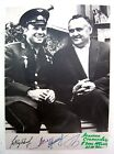 GAGARIN KOROLEV RUSSIAN COSMONAUT ASTRONAUT VINTAGE PHOTO PICTURE SIGNED 8x10