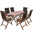 7 pc Outdoor Dining Set Garden Patio 1 Table 6 Chairs Deck Pool Dining Furniture