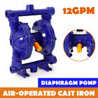 Air Operated Double Diaphragm Pump 12GPM 115PSI 1 2 Inlet  Outlet QBK 15 Blue