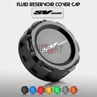 CNC Aluminum Rear Brake Fluid Reservoir Cover Cap Fit For Suzuki SV650 1999-2017