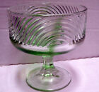 Vintage E.O. Brody  Cleveland Ohio  Pale Green Glass Compote Pedestal Dish Bowl