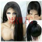 Real Hair Long Yaki Straight Synthetic Lace Front Wig