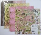 NEW Basic Grey Doilies Laser Die Cut Scrapbook Paper Lot of 4 Sheets