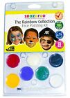 SNAZAROO FACE PAINT RAINBOW COLLECTION KIT NON TOXIC  EASY TO REMOVE