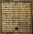 Large Antique Barbed Wire Display 50 cuts Authentic Barbwire Collection