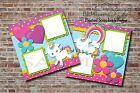 Unicorn Girl Baby Toddler 2 PRINTED Premade Scrapbook Pages BLJgraves 6