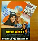 Wayne's World Dana Carvey Mike Myers Signed Magazine 8x10 Photo Page w JSA COA