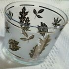 Vintage Libbey Silver Foliage / Leaf frosted ice bucket straight 4 5/8