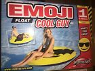 EMOJI Cool Guy 62 inch Pool Float Raft Inflatable Water Toy NEW in BOX
