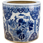 Vintage Style Chinese Porcelain Blue and White Big Pot Planter,22''D X 18''H