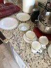 Vintage Fire King Oven Ware White With Gold Trim Dish Set Of 22