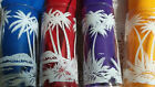 Cool! 4 Vtg Mid Century Modern Palm Tree Embossed Drinking Glasses 6.25