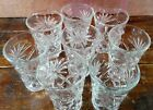 Set of 8 Juice Glasses Anchor Hocking Early American Prescut EAPC Oatmeal Glass