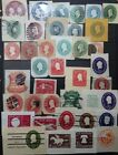 US Postal Stationery Cut Squares 38 diff used stamps CV 10900