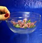 Glass Stacking 5 pc Mixing Bowls Lilacs Durable Heat Resist Anchor Hocking Pyrex