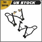 SPORT BIKE MOTORCYCLE WHEEL LIFT STAND FRONT FORK + REAR SWINGARM SPOOL COMBO PP