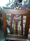 Antique Gothic  Carved Wood Art Picture Frame,