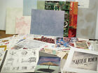 Large mixed Lot of scrapbook paper collage items