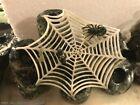 Natural Jade carving Spider web cobweb spider catch insect  Ornaments Statue