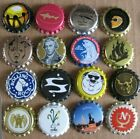 16 UNUSED BEER CAPS MOSTLY PICTURE CROWNS LOT 1