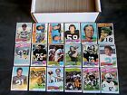 Big Lot Near Set 508 Different 1975 Topps Football Cards Vintage Part Set Stars!