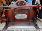 Vintage wooden Iron Fireplace Over Mantle with mirror