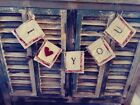 Primitive Farmhouse Heart,Love You Valentines Banners wedding