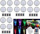 16PC Swimming Pool Light RGB LED Bulb Remote Control Underwater Color Vase Decor