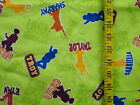 DISNEY HIGH SCHOOL MUSICAL SILHOUETTE 100 COTTON FLANNEL FABRIC 18X43 INCHES