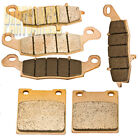 Front Rear Sintered Brake Pads For Suzuki GSX600F Katana 600 1998-2006 2005 2004