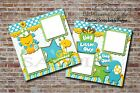 Baby Boy Blue 1st Birthday 2 PRINTED Premade Scrapbook Pages BLJgraves 15