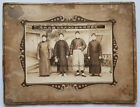 Old and unique China Photo - Group of Men-Circa 1900- With text,
