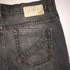 Analog Jeans Mens Black Gray Button Fly Straight Leg Size 34