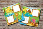 Baby Shower Dinosaur Blue 2 PRINTED Premade Scrapbook Pages BLJgraves 17