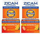 2- ZICAM RapidMelts Pre Cold Remedy 25 Tablets Citrus Flavor Quick Dissolve Tabs