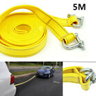 5 Tons 5m Car Truck Van Tow Rope Hook Heavy Duty Road Recovery Pull Towing Strap